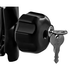 """RAM-KNOB3LU Gałka zabezpieczająca zamykana kluczykiem, dedykowana do ramion RAM Mount rozmiar """"B"""""""