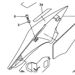 Yamaha FZ6N owiewka prawa tył