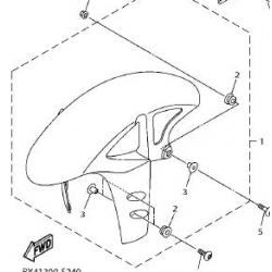 Yamaha YZF-R1 błotnik