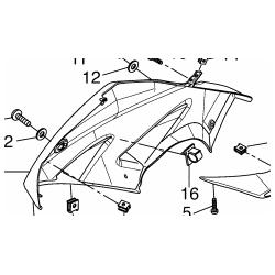 Yamaha yzf-r 125 owiewka prawa górna