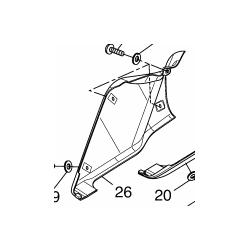 Yamaha yzf-r 125 pług prawy
