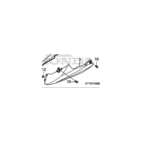 Honda CBR 125R pług lewy