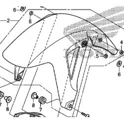 Honda NC750X błotnik
