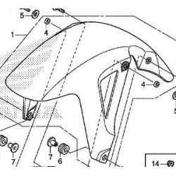 Honda NC750  błotnik