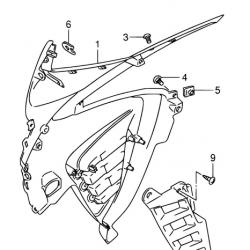 Suzuki DL650 owiewka prawa