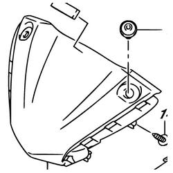 Suzuki SV 650 owiewka lampy