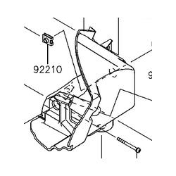 Kawasaki brute force 750 mocowanie lampy lewe