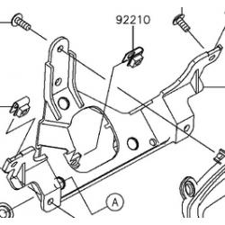 Kawasaki brute force 750 mocowanie licznika