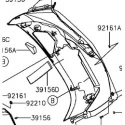 Kawasaki ER6-F owiewka prawa