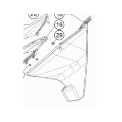 KTM 1290 SUPER ADVENTURE owiewka lewa