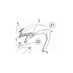 KTM 1290 SUPER ADVENTURE błotnik 2