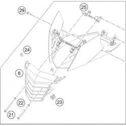 KTM DUKE 125 Pług