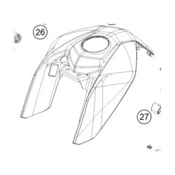 KTM DUKE 125 owiewka na bak