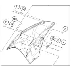 KTM RC 125 owiewka prawa