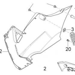Aprilia RS4 125 pług prawy