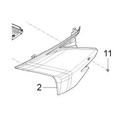 Aprilia RS4 125 Owiewka  lewa duża