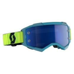 SCOTT Fury Goggle teal blue/neon yellow