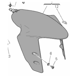 Ducati Panigale 1299 błotnik