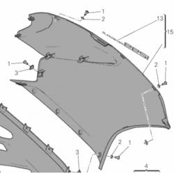 Ducati Panigale 1299 owiewka lewa