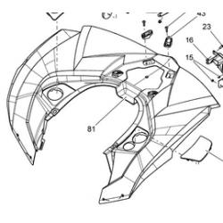 Can Am Renegade 1000 EFI owiewka tył