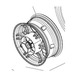 Can-am spyder F3 Felga Tył