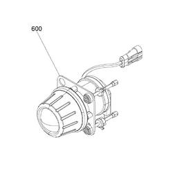 Can-am spyder F3  lampa prawa światło mijania