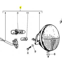 lampa przednia Vespa PX 125