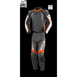 Kombinezon motocyklowy BUSE Silverstone Pro czarno-pomarańczowy