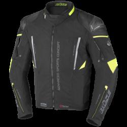 Kurtka motocyklowa BUSE Rocca czarna/neonowo-żółta