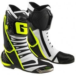 Buty motocyklowe GAERNE GP1 EVO białe czarne żółte