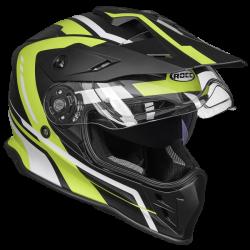 Kask motocyklowy ROCC 782 matowo-czarny/neonowy