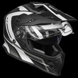 Kask motocyklowy ROCC 782 matowo-czarny/biały