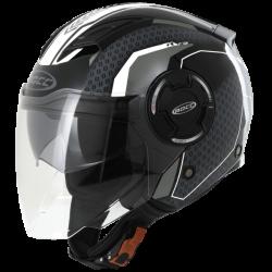 Kask motocyklowy ROCC 284 czarny/biały
