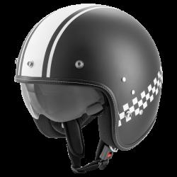 Kask motocyklowy ROCC Classic Pro TT czarny mat-biały
