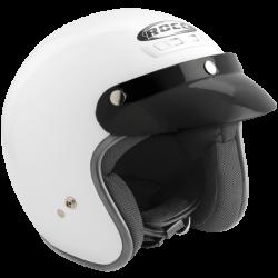 Kask motocyklowy ROCC Classic biały metalik
