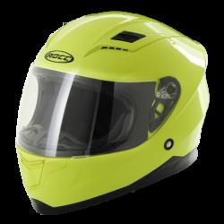 Kask motocyklowy dziecięcy ROCC 41 Jr. żółty neonowy