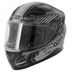 Kask motocyklowy dziecięcy ROCC 415 Jr. czarny mat/srebny