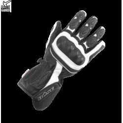 Rękawice motocyklowe damskie BUSE Pit Lane czarno-białe
