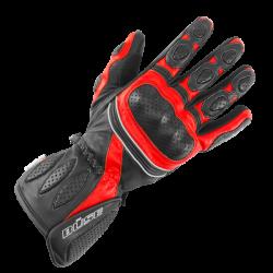 Rękawice motocyklowe damskie BUSE Pit Lane czarno-czerwone
