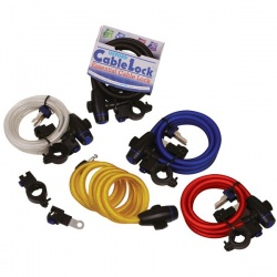 Zabezpieczenie antykradzieżowe OXFORD Cable Lock kolor czerwony 1,8m x 12mm