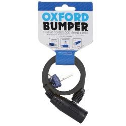 Zabezpieczenie antykradzieżowe OXFORD Bumper Cable lock kolor czarny 0,6m x 6mm