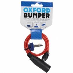 Linka z zapięciem OXFORD Bumper Cable lock kolor czerwony 0,6m x 6mm