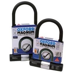 Zabezpieczenie antykradzieżowe OXFORD MAGNUM U-lock kolor czarny/srebrny