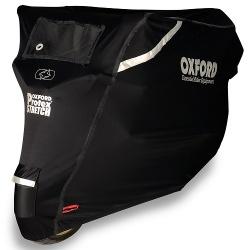 Pokrowiec na motocykl OXFORD PROTEX STRETCH Outdoor CV1 kolor czarny, rozmiar L - wodoodporny