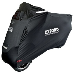 Pokrowiec na motocykl OXFORD PROTEX STRETCH Outdoor CV1 MP3 kolor czarny - wodoodporny