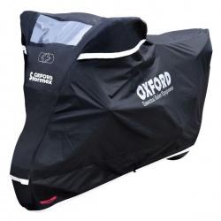 Pokrowiec na motocykl OXFORD STORMEX NEW kolor czarny, rozmiar L - odporny na wysoką temperaturę, z podszewką