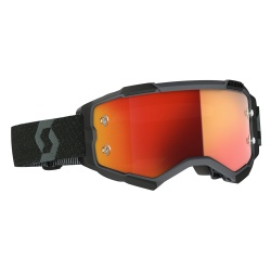 SCOTT Fury Goggle black / orange chrome works