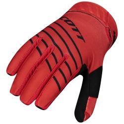 SCOTT 450 Angled Glove BLACK/RED