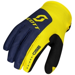 SCOTT 350 Track Glove BLUE/YELLOW