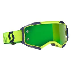 SCOTT Fury Goggle blue/yellow / green chrome works